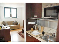 Small SINGLE studio with sofa bed in attractive,secure block.Some bills included in rent