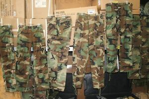 MILITARY-PANTS-SHIRTS-BDU-ACU-DCU-WOODLAND-DESERT-NEW-USED-MULTIPLE-SIZES