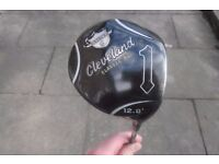 A NICE CLEVELAND CLASSIC XL 12 DEGREE DRIVER & HEAD COVER IN VERY GOOD CONDITION