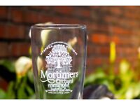 19x 1 pint glass BRAND NEW Mortimer's Orchard cider glasses