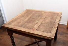 1940s Vintage Oak Dining Table
