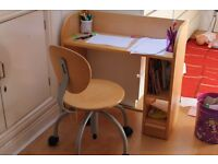 Childs desk and chair. SolidAsh Wood Just outgrown.reduced from £30 to £25