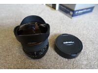 Samyang / Walimex Pro 8mm f3.5 fish eye lens canon