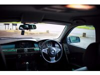 BMW 525 D ,AUTOMATIC, GREY, FULL BLACK LEATHER SEATS