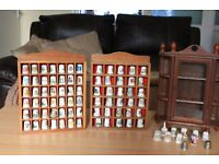 Thimble Collection with 3 display cabinets