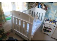 Boori Madison White Cot Bed: Collection only W13