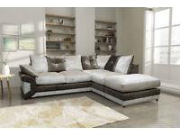 Dino Corner Brand New Crushed Velvet Sofa
