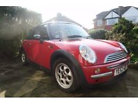 2002 Mini Cooper. 6 months road tax included and next MOT due Feb 2018