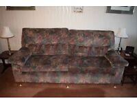 Free 3 piece suite 2 chairs and one settee you must be able to collect
