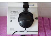 Beyerdynamic DT770 Pro Headphones - 80 Ohm Boxed Mint.