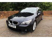 06 BMW 520D M SPORT SALOON 6 SPEED 163 ++ HALF LEATHER , FULL MOT & 45+ MPG ++