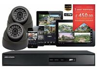 CCTV Cameras Full HD 1080P Clear Image, Night Vision Installation and Free Setup for Remote Viewing