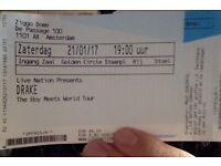 Drake - Boy Meets World Tour (21/01/17, Ziggo Dome, Golden Circle) - 1x Tickets