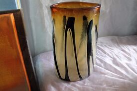 Abstract Black/yellow vase