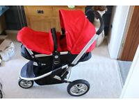 Mothercare Xpedior Baby Buggy Pram Red + Rainhood