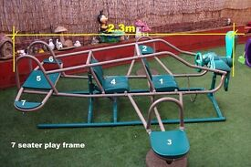 Superb 7 seater seesaw and play frame.