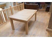 Tallinn 160cm Extending To 200cm Oak Dining Room Table real wood