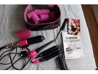 Cosmo Multi Styler 3 Way Hair Curlers with Rollers, Clips and Comb