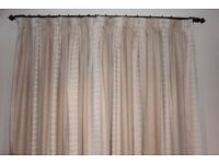 THREE PAIRS OF MATCHING CURTAINS - PENCIL PLEAT