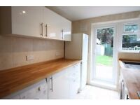 3 bedroom newly refurbished house to rent spacious reception room with private garden & own driveway