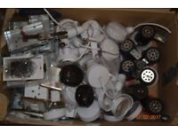 Electrical accessories job lot incl. switches, sockets, pendants, boxes, etc.
