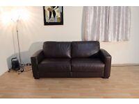 Ex-display Dante brown leather sofa bed