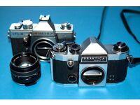Practica Super TL and Practica LTL-3 cameras + Auto Reflecta 55 mm. f1.7 lens.