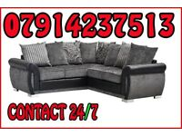 THIS WEEK SPECIAL OFFER SOFA BRAND NEW BLACK & GREY OR BROWN & BEIGE HELIX SOFA SET 7666