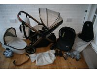 Babystyle Oyster 2 pram travel system 3 in 1 - Special Edition City Bronze beige CAN POST