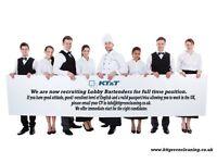 Room attendants, Housekeeping supervisors, Handymen, Luggage porters, Bartenders, Waiters/Waitresses