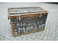 Large Wicker Laundry/Linen Basket - From Old Vic Theatre!