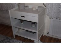 White Changing table for babies.