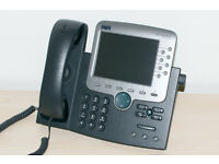 Cisco IP Phone 7970G with SIP Firmware, ideal for use with FreePBX / Asterisk etc