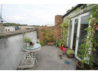 2 double bedroom flat spread over two floors with large roof terrace in Islington N1.