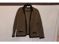 Dogtooth check cardigan Size 10
