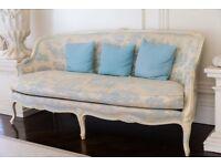 Blue and Cream Sofa - Quick Sale