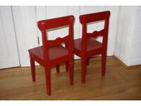 Kids chairs x2