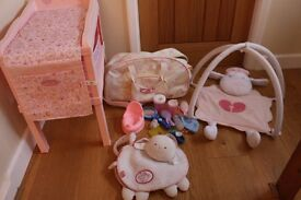 Baby Annabell job lot bundle changing table girls toy bag accessories