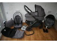 Oyster 2 Special Edition Zink (grey) pram travel system 3 in 1 CAN POST