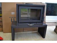 Wood burning Studio Stove 4kW .Modern free standing,SWAP for Mobile Phone
