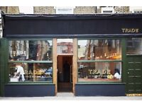 Front of House Staff; baristas & servers for TRADE Essex Road, N1-