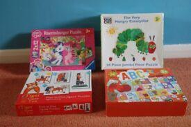4 Children's Jigsaw Puzzles sets