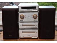 Technics SE-HD350 Mini-Hifi Component System, Amp, CD, Cassette, Radio & Speakers