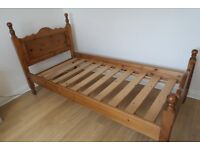 Two Solid Pine Single Beds.