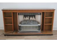 Electric fire, flame effect , with free standing surround