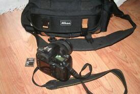 Nikon D70s camera with lens etc