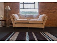 Duresta Ruskin 2.5 str sofa (210cm wide) Covered in J Brown Modena Velvet in Cream colour