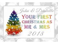 Personalised Christmas Coasters, Jumbo Fridge Magnets, 1st Xmas, New Home, Elf Mission, Ideal Gift