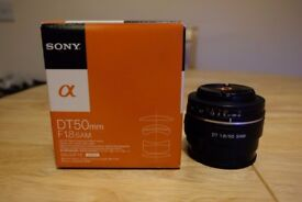 Sony SAL50F18 DT 50mm in excellent condition