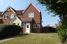 Two bedroom semi detatched house to let with a private driveway.
